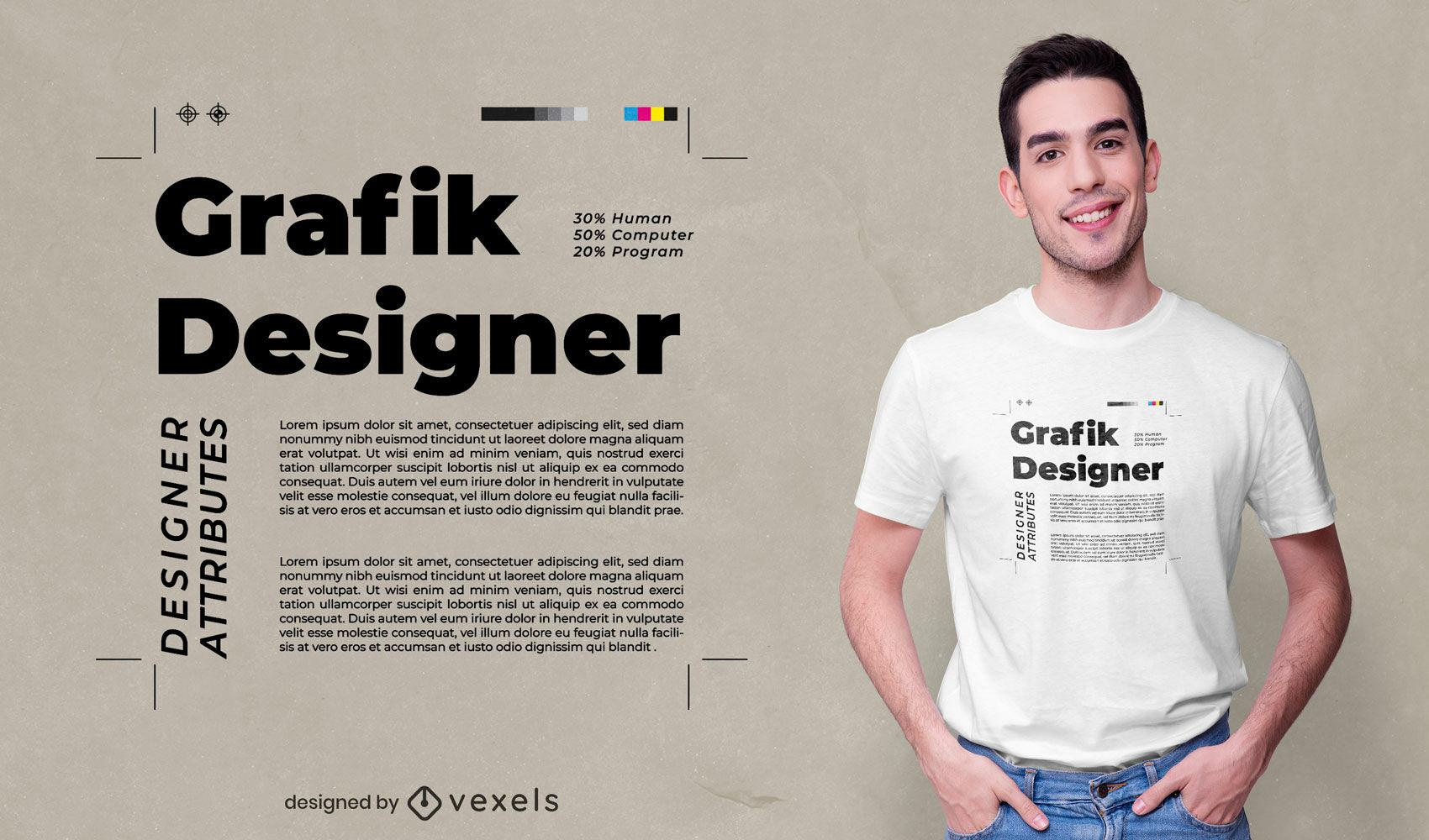 Graphic designer quote t-shirt design