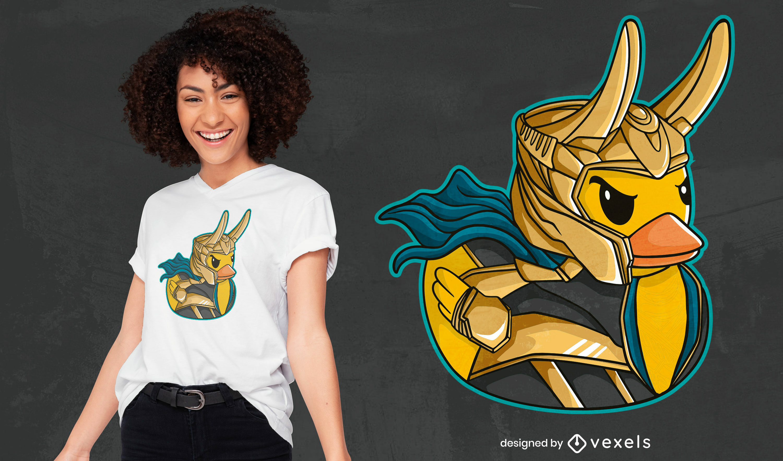Superhero duck parody t-shirt deisgn