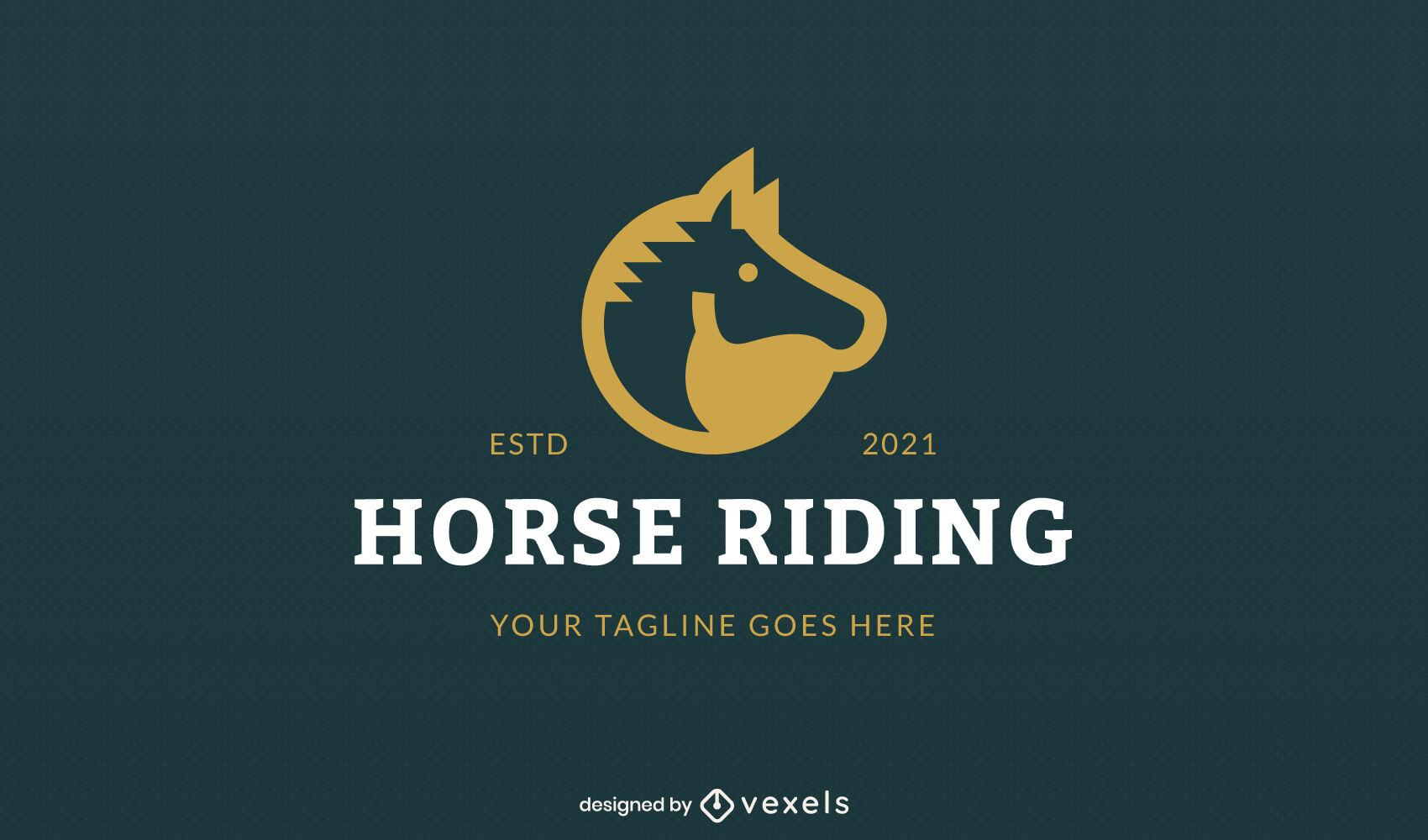 Dise?o de logotipo de empresa de corte animal caballo