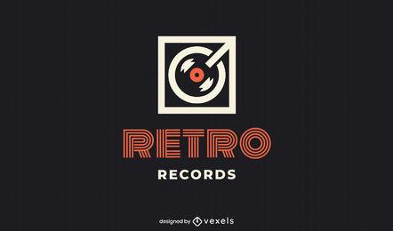 Vinyl player flat logo