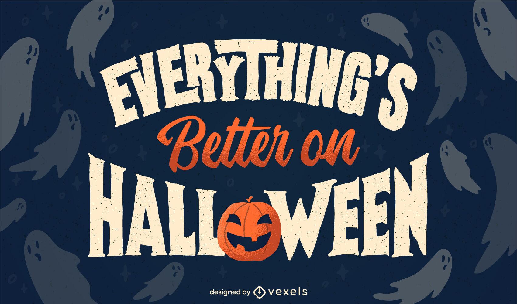 Halloween holiday ghosts illustration