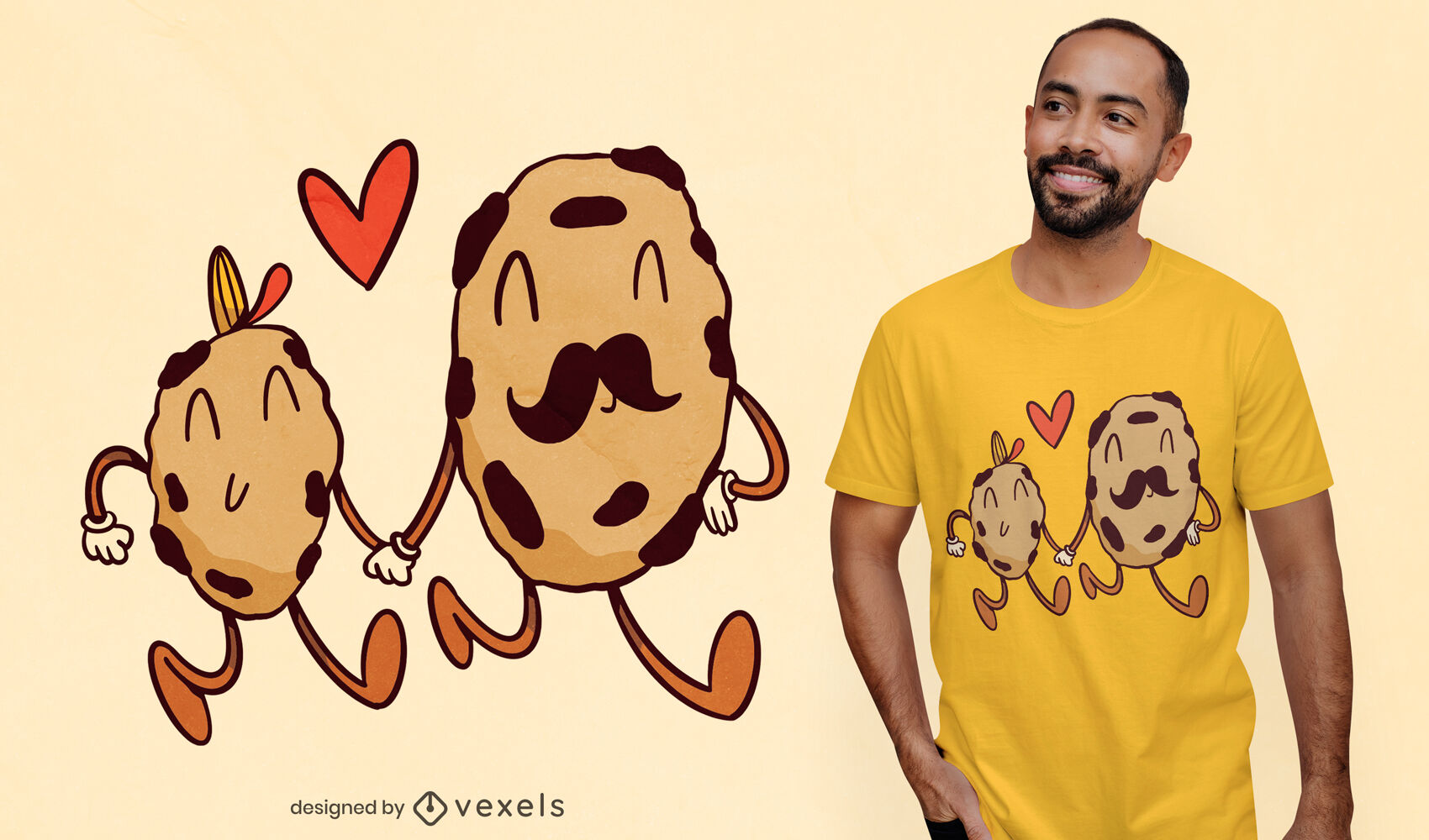 Father and son cookies t-shirt design