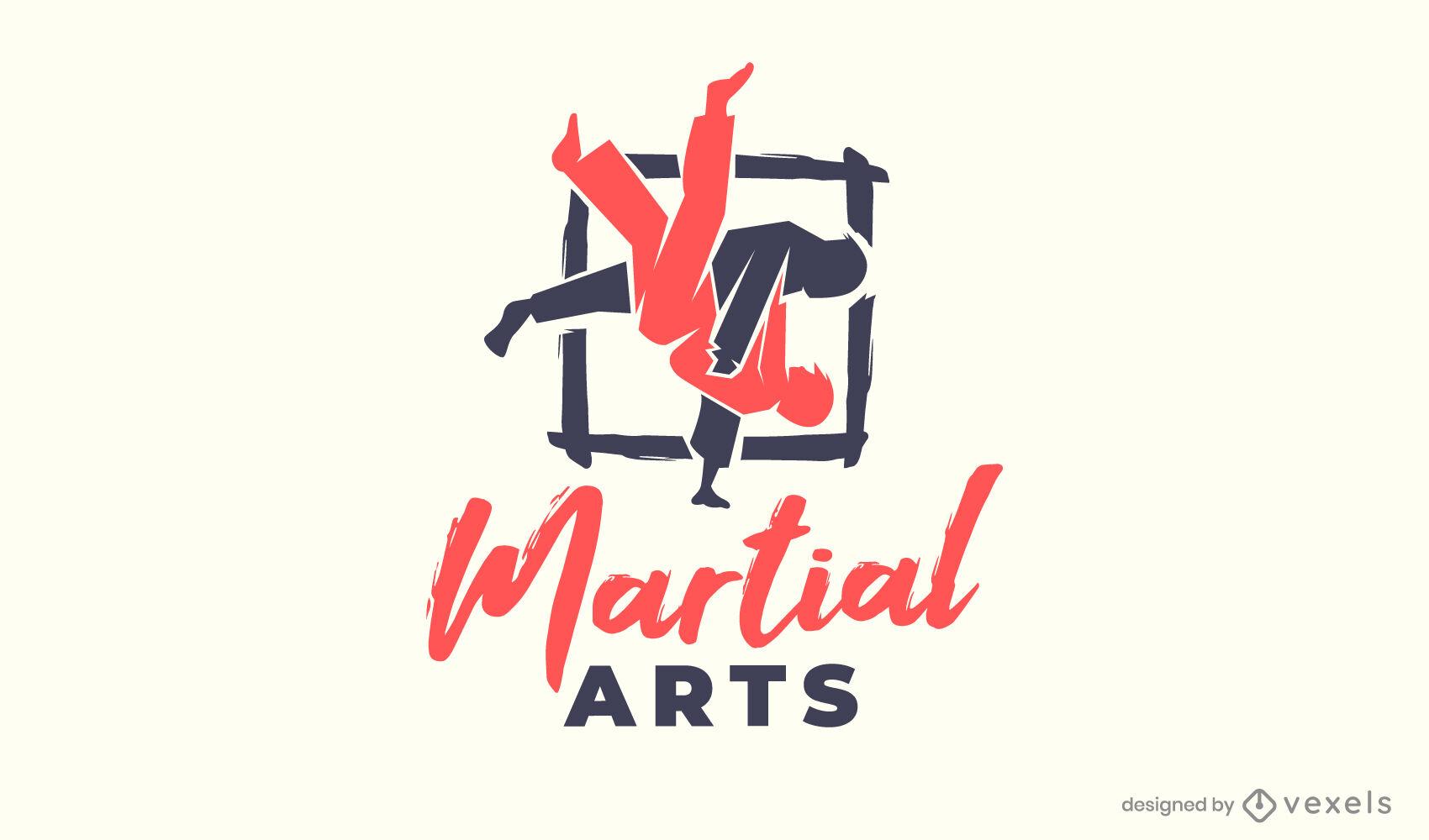 Logotipo de corte de artes marciales