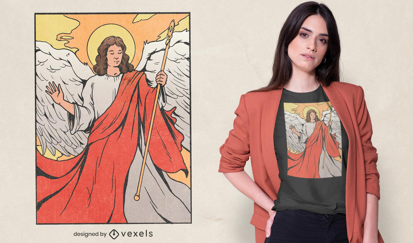 Saint Raphael t-shirt design