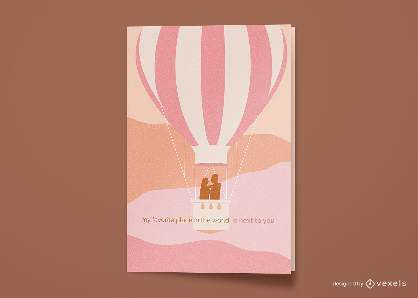 Happy anniversary hot air balloon greeting card
