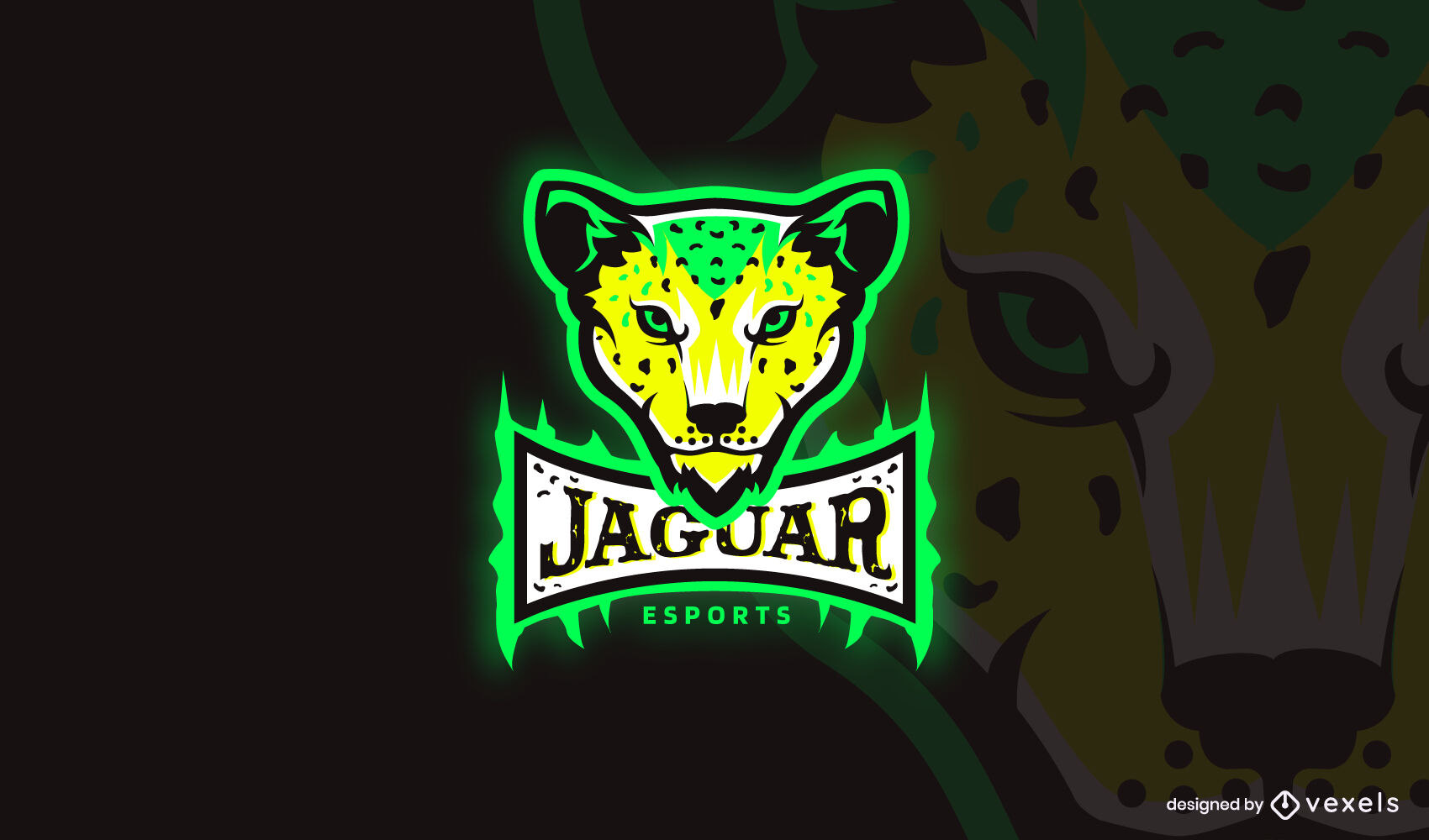 Logotipo de ne?n de jaguar