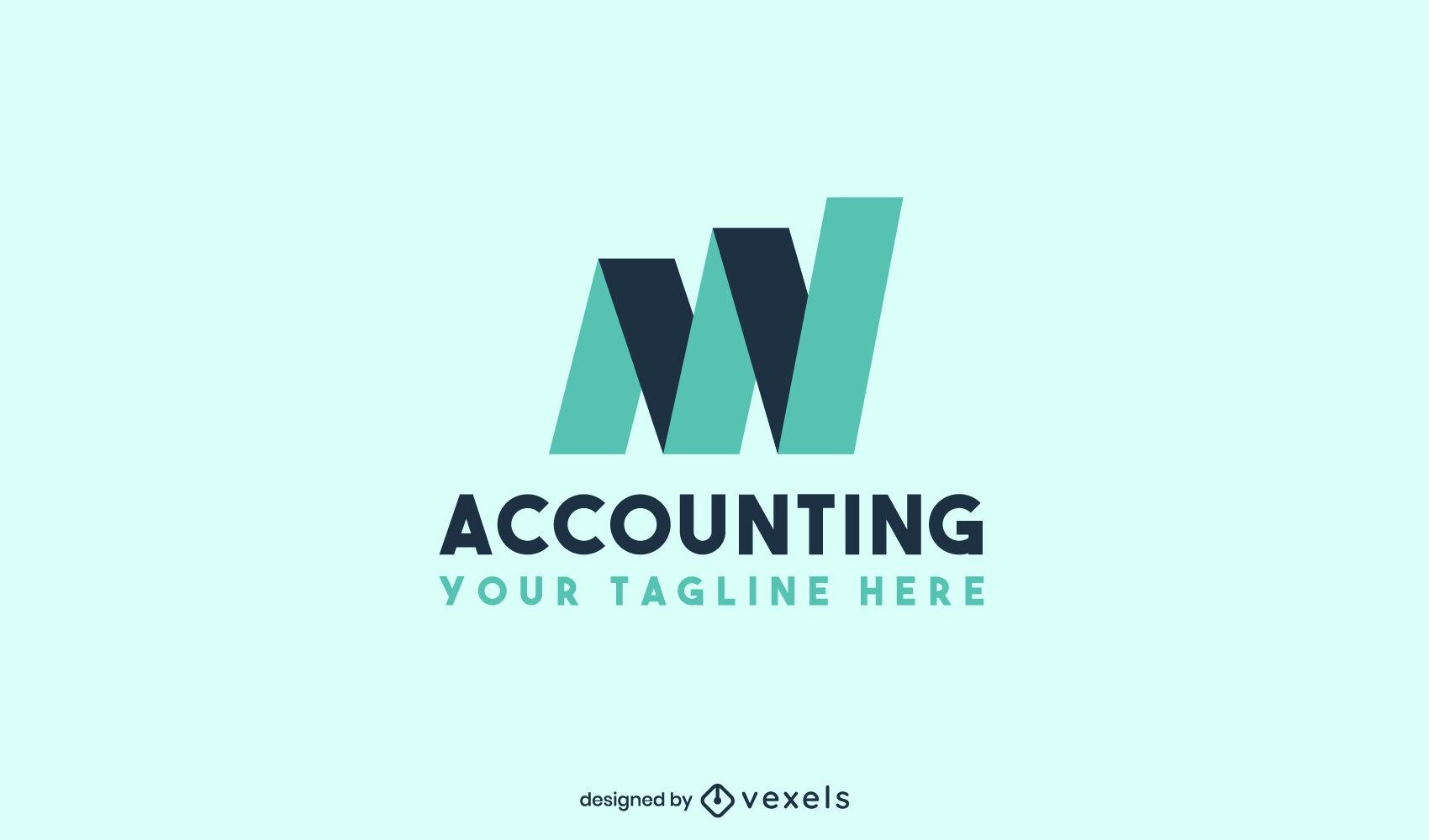 Accounting graph shapes logo