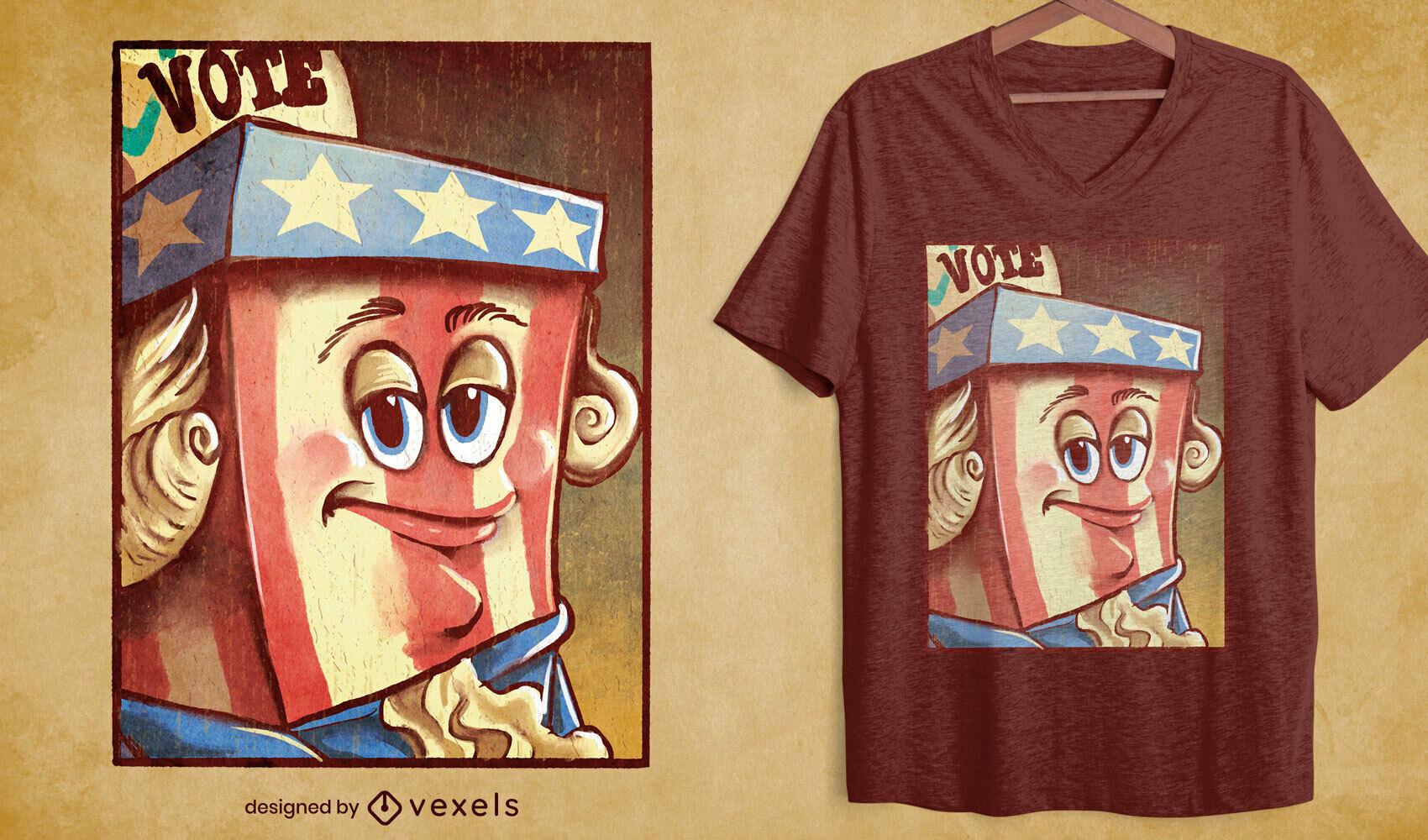 Camiseta de pintura al ?leo de mascota americana psd