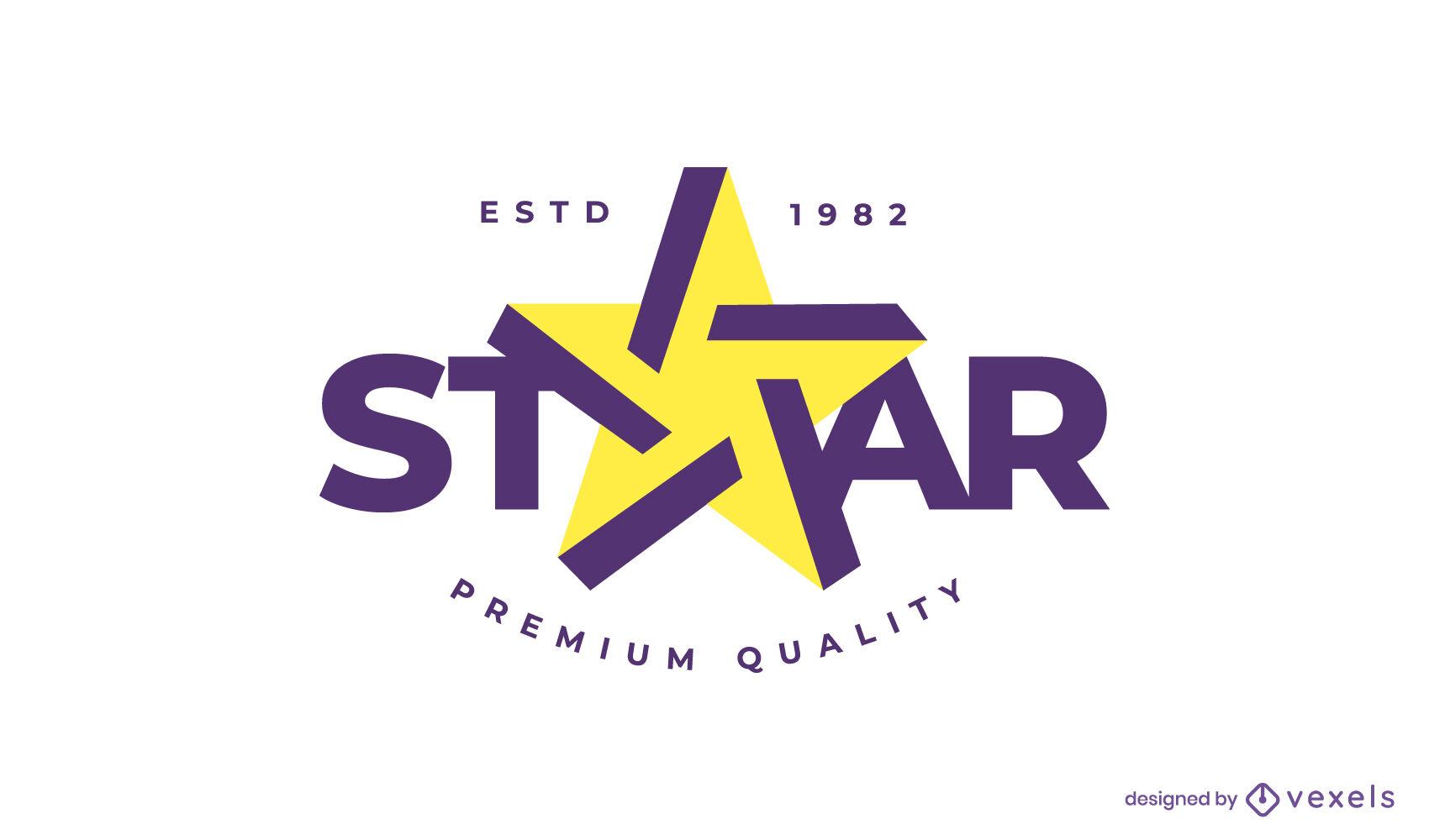 Star shape flat logo