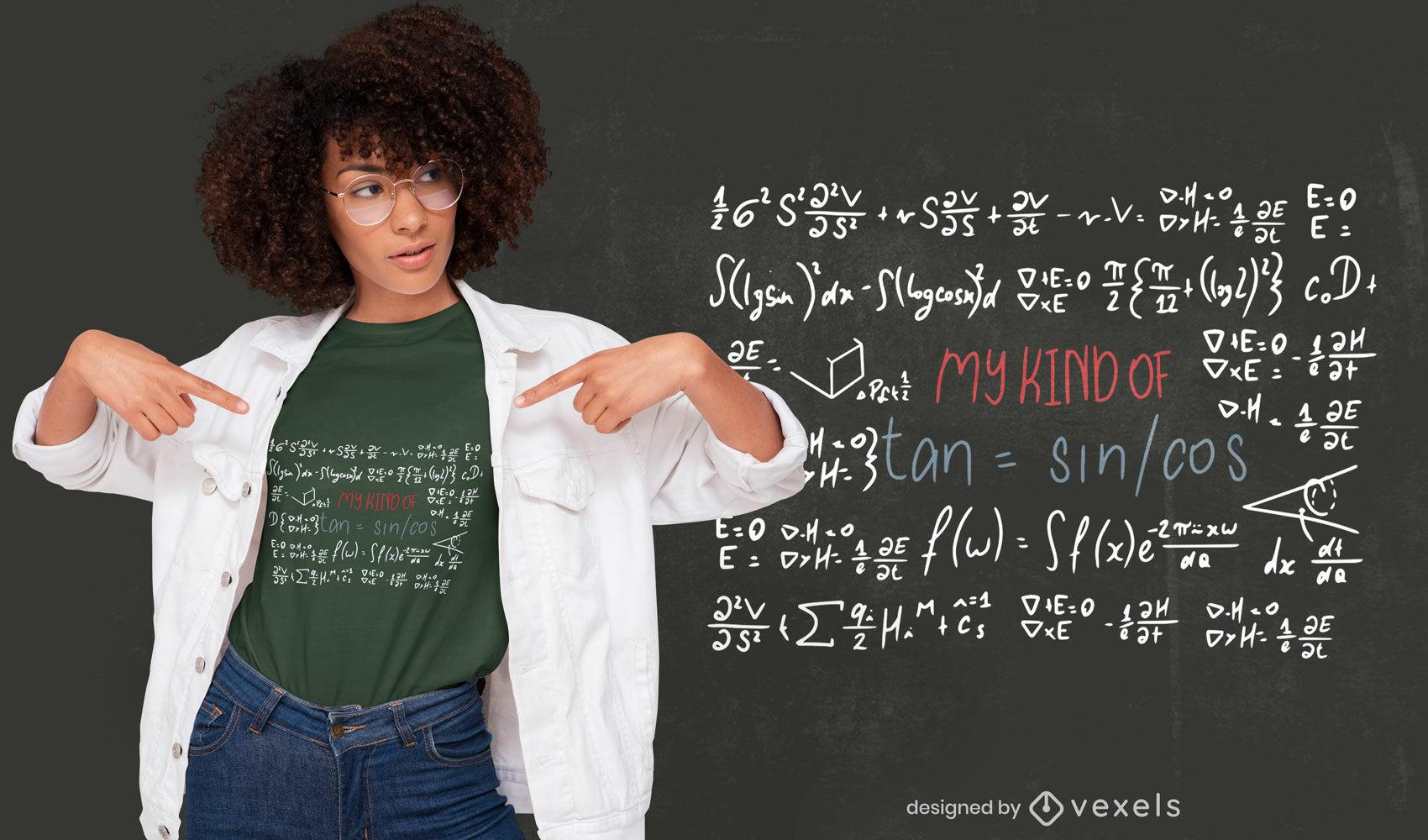 Dise?o de camiseta de educaci?n de pizarra de ciencia matem?tica.