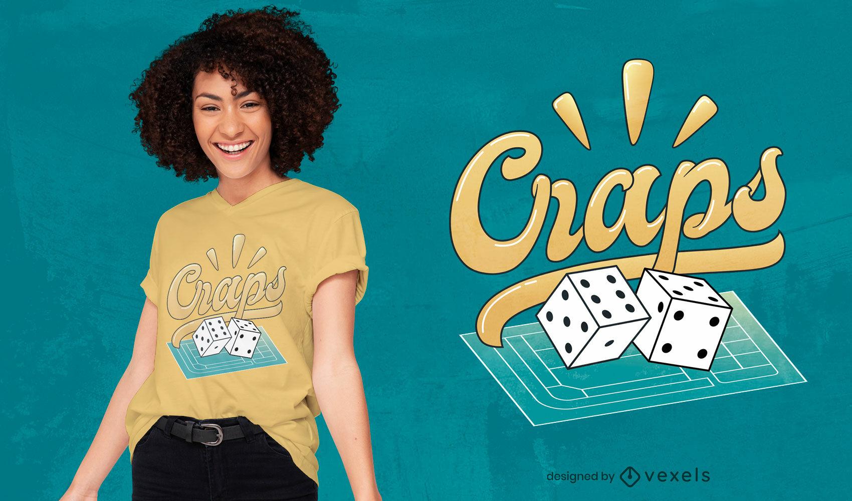 Craps game t-shirt design