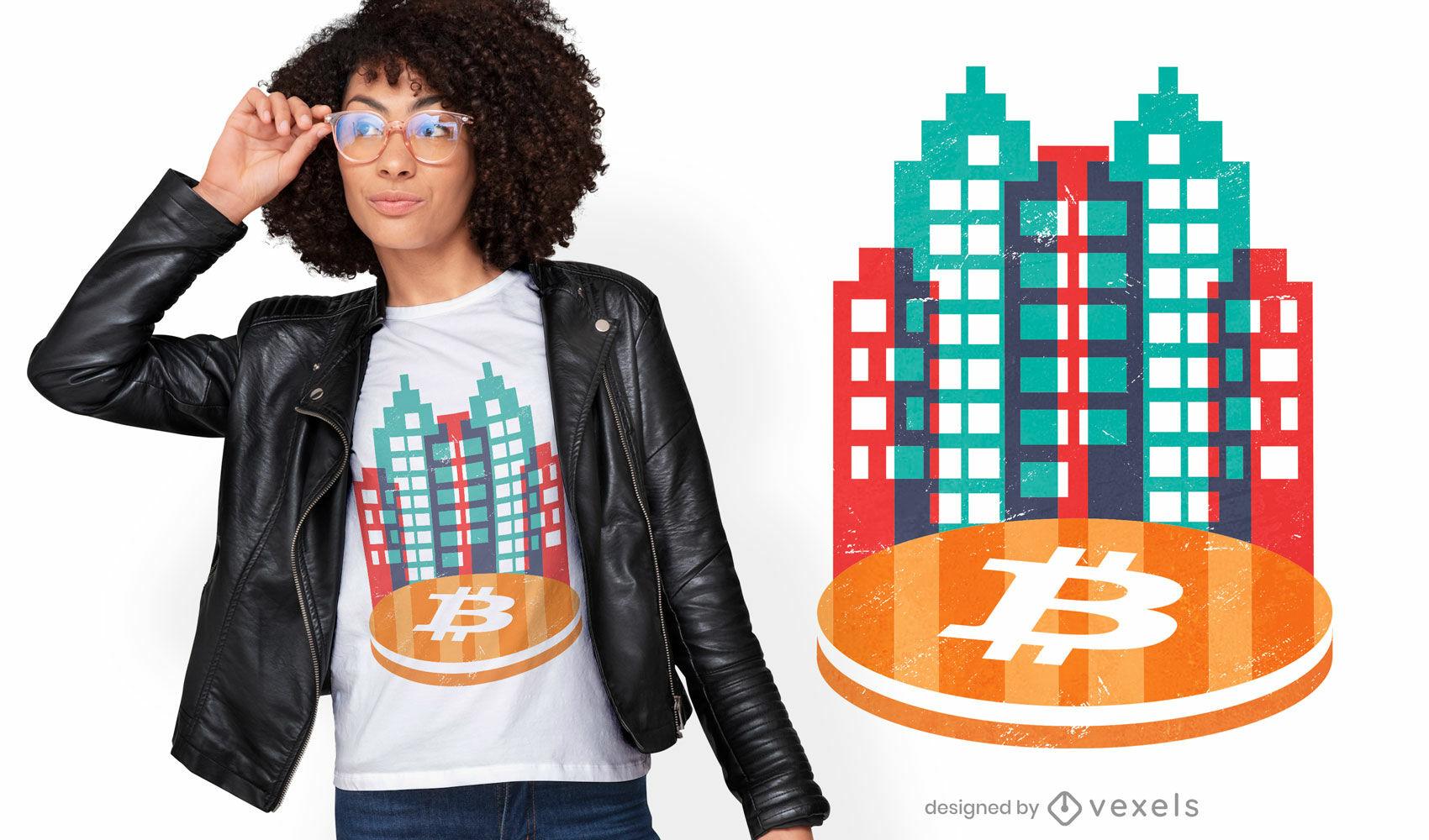 Bitcoin city t-shirt design