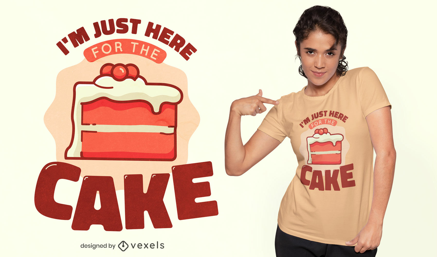 Here for the cake t-shirt design