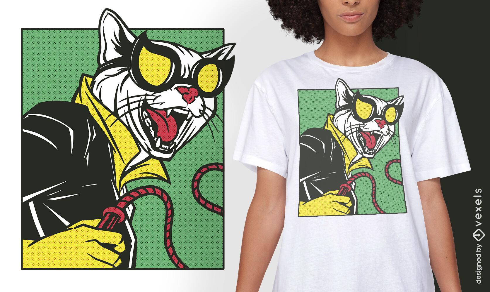 Cat woman parody t-shirt design