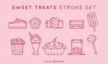 Sweet treats set stroke