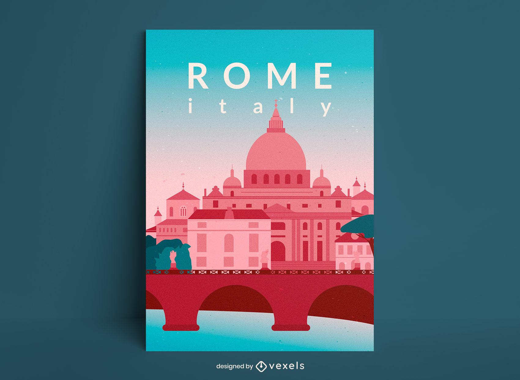 Roma italia edificios viajes diseño de carteles