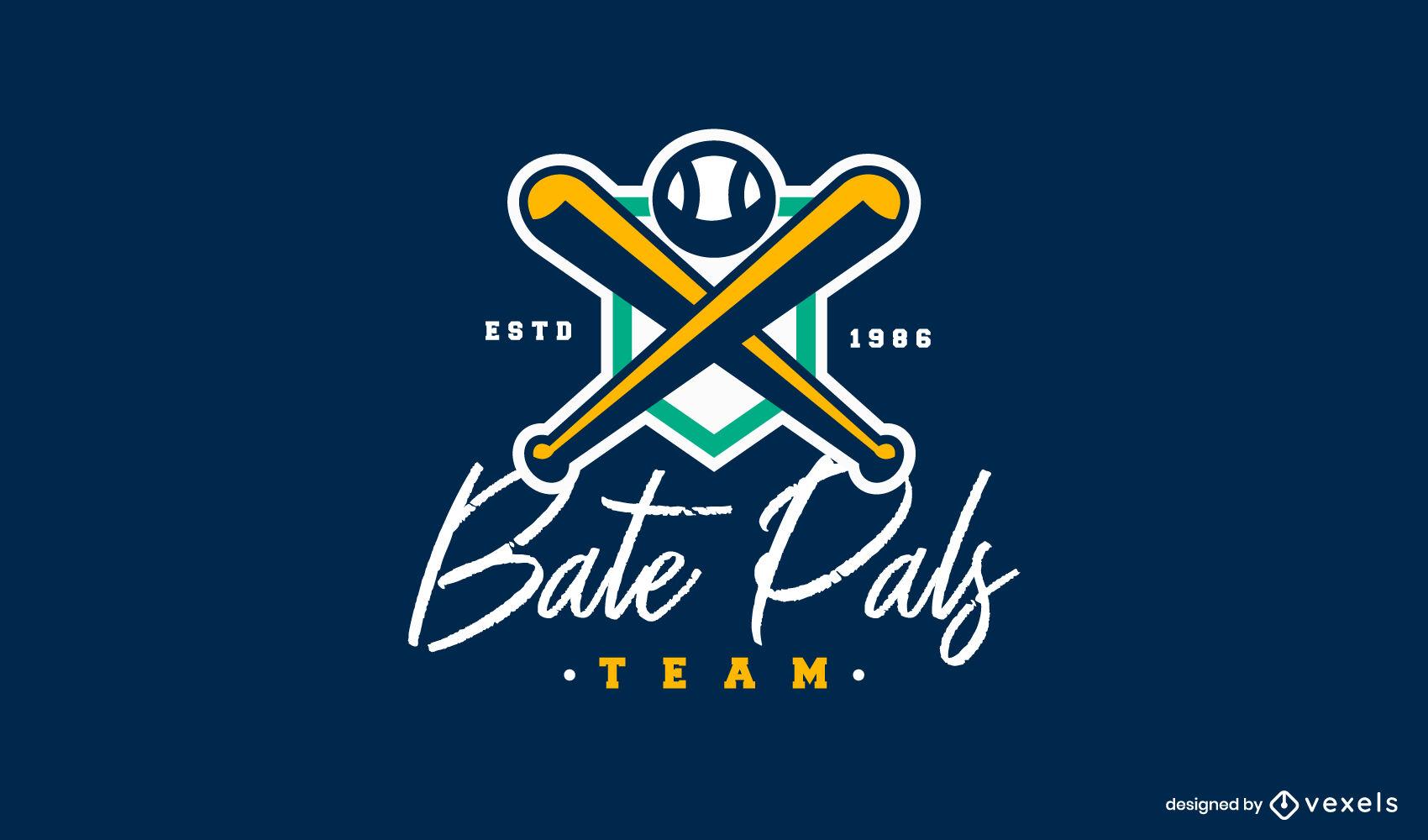 Traço colorido do logotipo do time de beisebol
