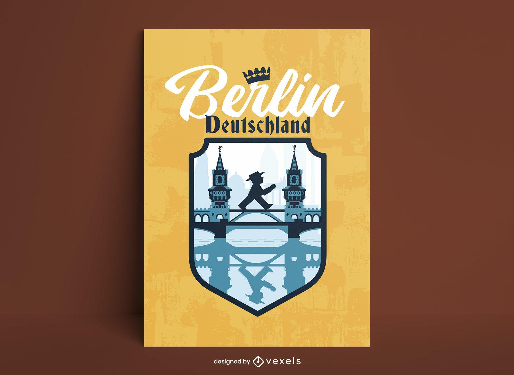 Póster del puente de la ciudad de Berlín