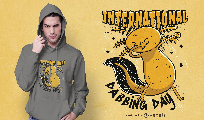 Dabbing axolotl animal t-shirt design