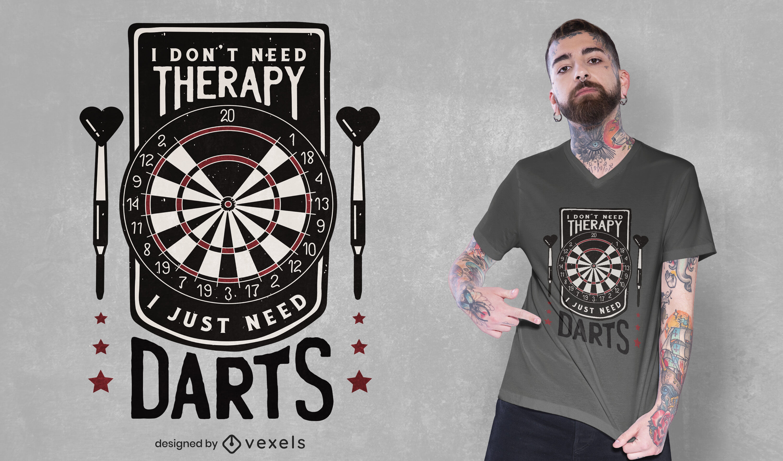 Dartboard funny quote t-shirt design