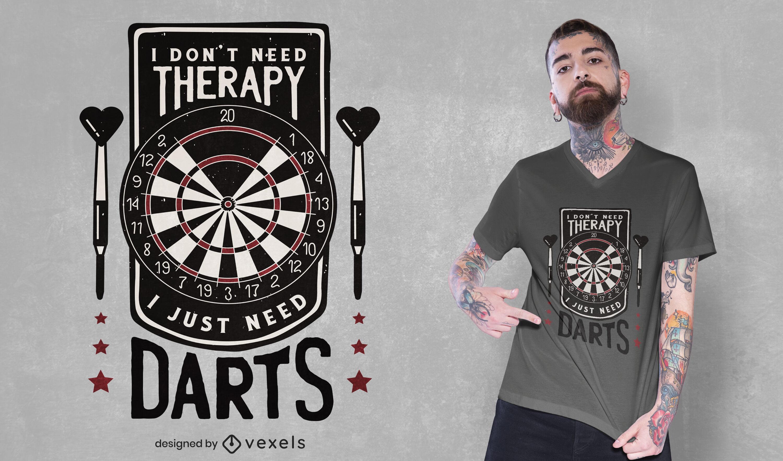 Diseño de camiseta de cita divertida de tablero de dardos
