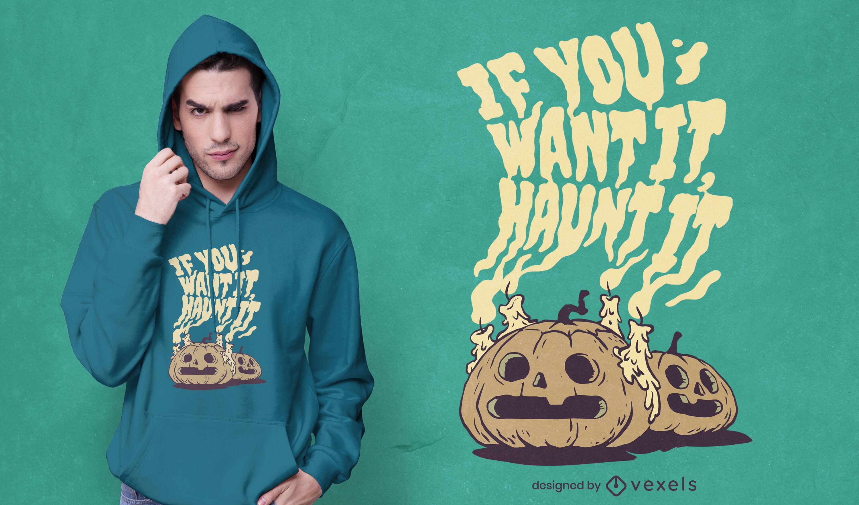 Dise?o de camiseta de fantasmas de calabaza de Halloween