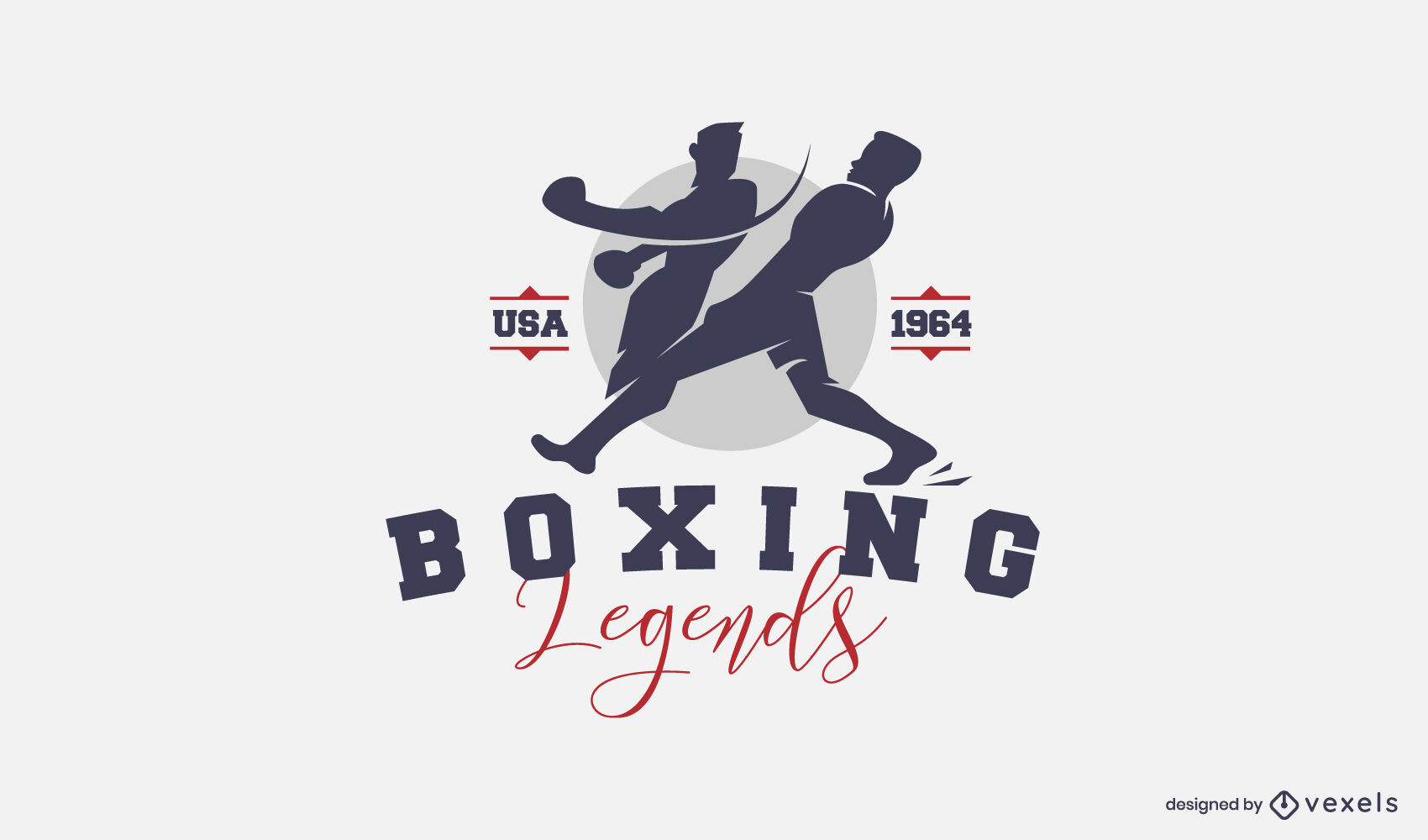 Boxing cut out logo design