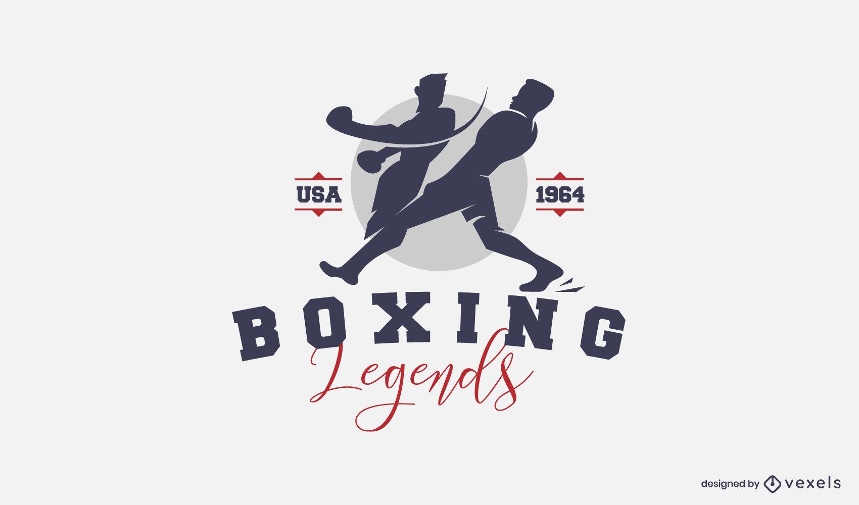 Diseño de logotipo de corte de boxeo