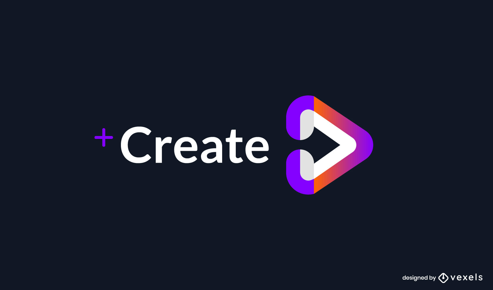 Streaming play símbolo logo degradado