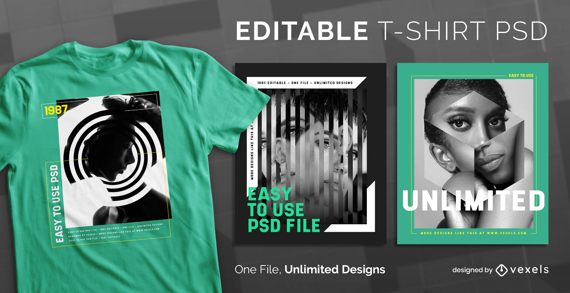 Geometric distortion scalable psd t-shirt