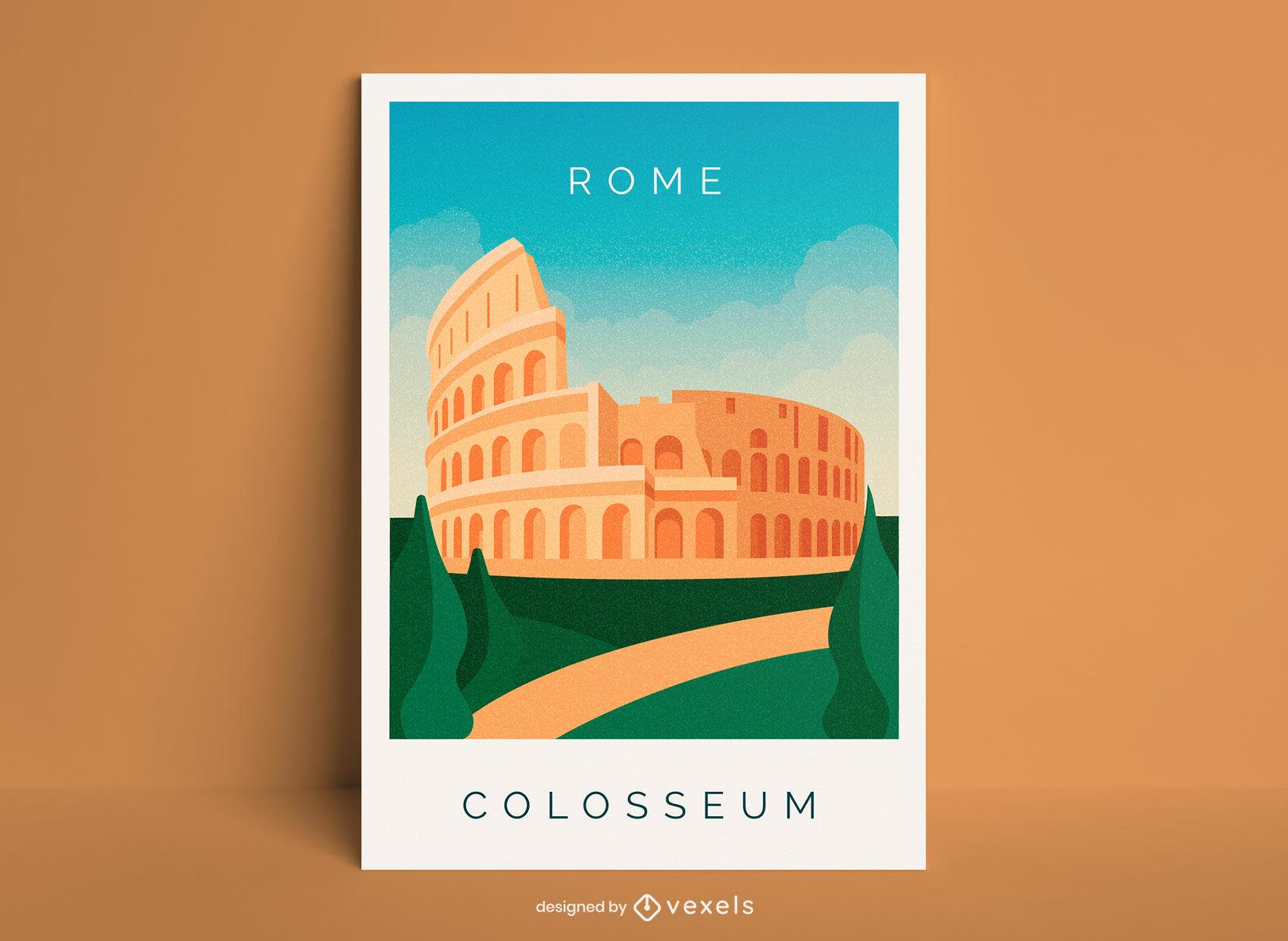 Rome city colosseum poster