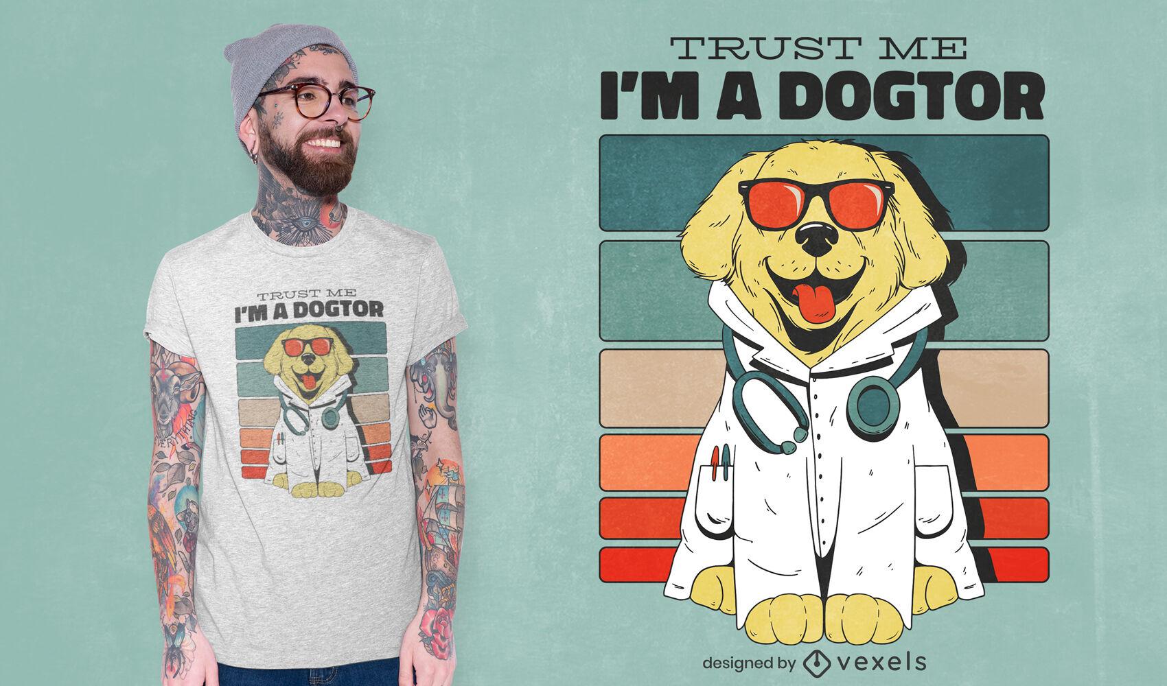 Dog doctor t-shirt design