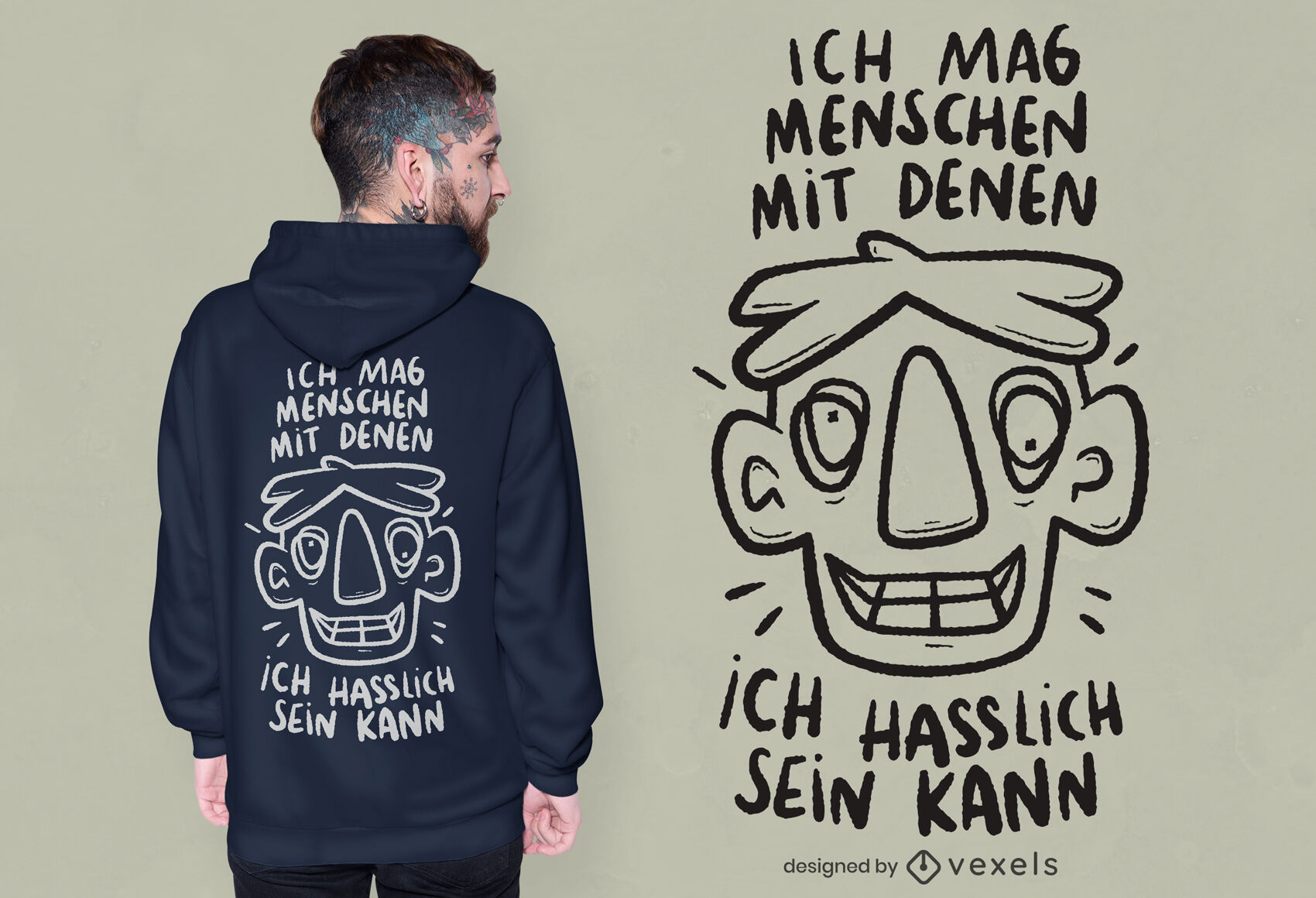 German ugly quote t-shirt design