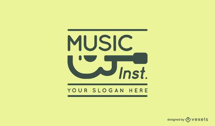 Logotipo de trazo de música de guitarra
