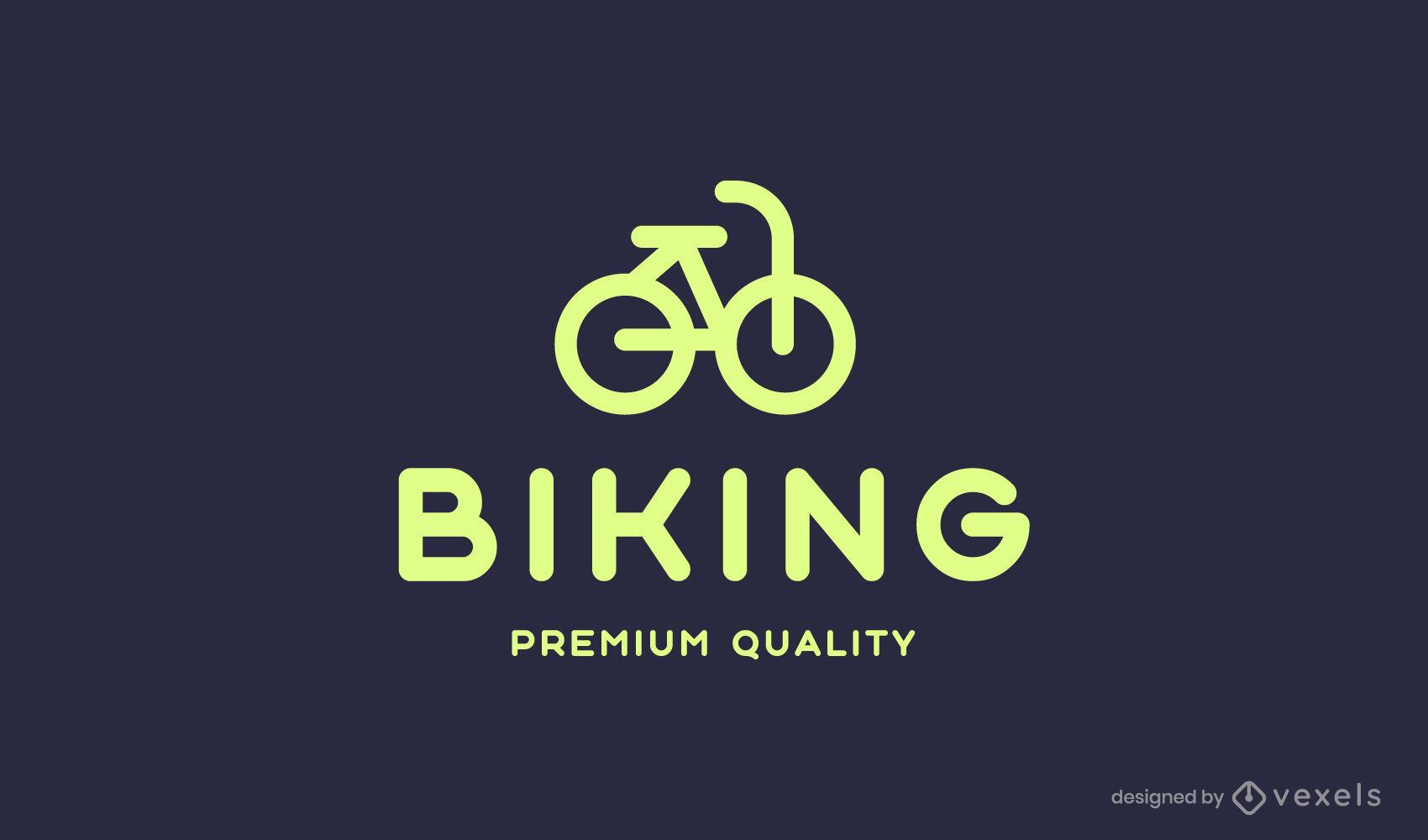 Geometric bycicle logo stroke