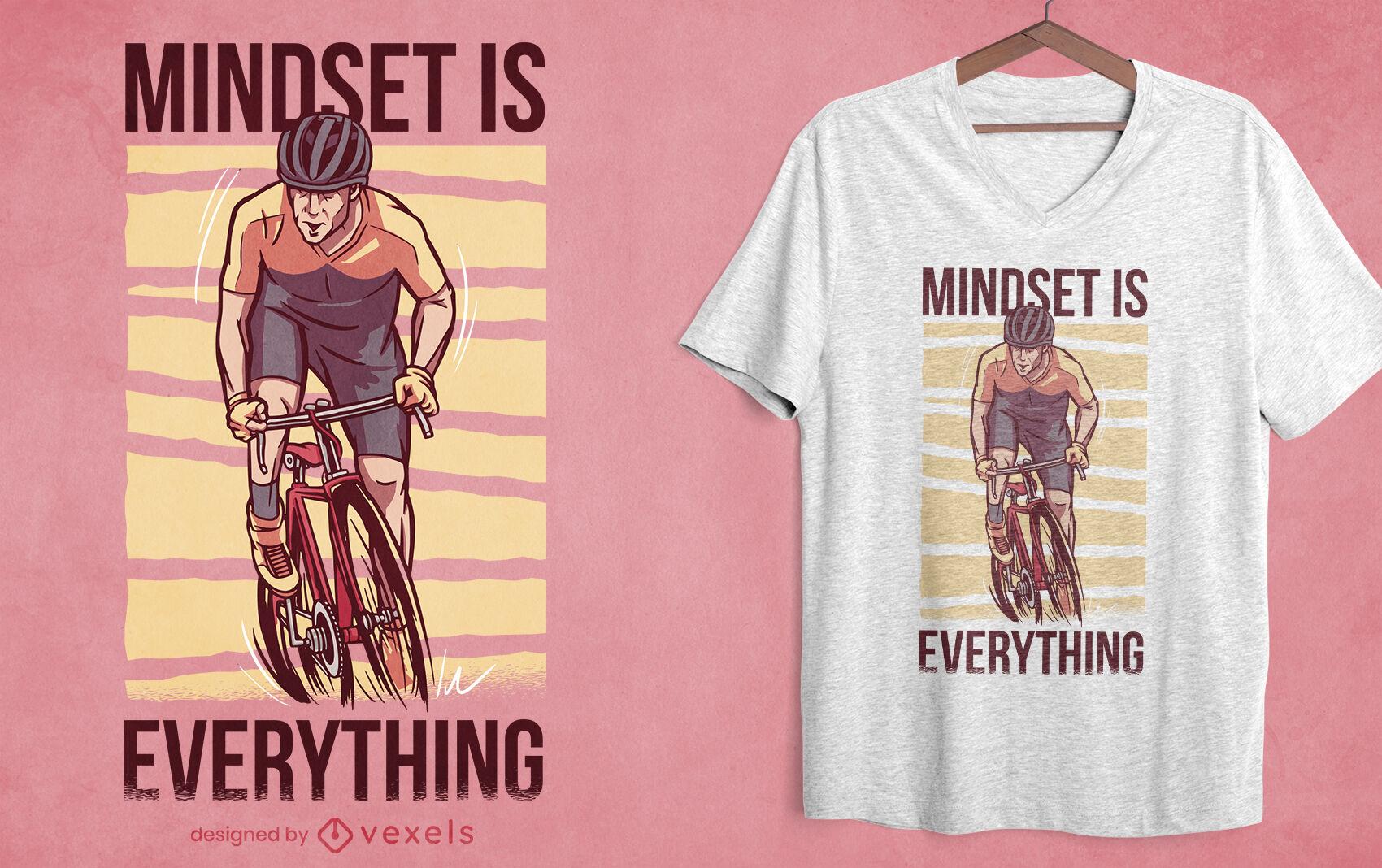 Dise?o de camiseta de ciclismo motivacional.