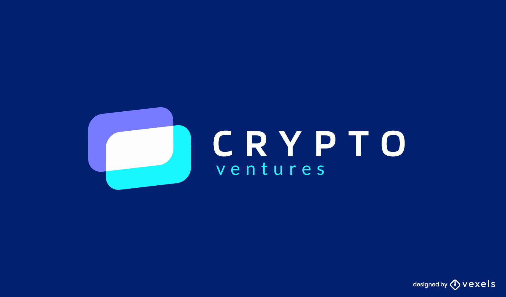 Crypto geometric shapes flat logo