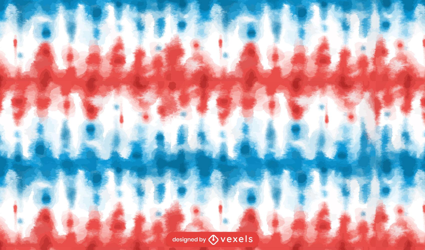 Cores da bandeira americana padrão tye dye