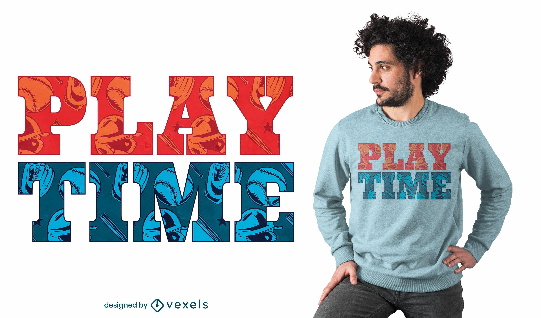 Diseño de camiseta de tiempo de juego