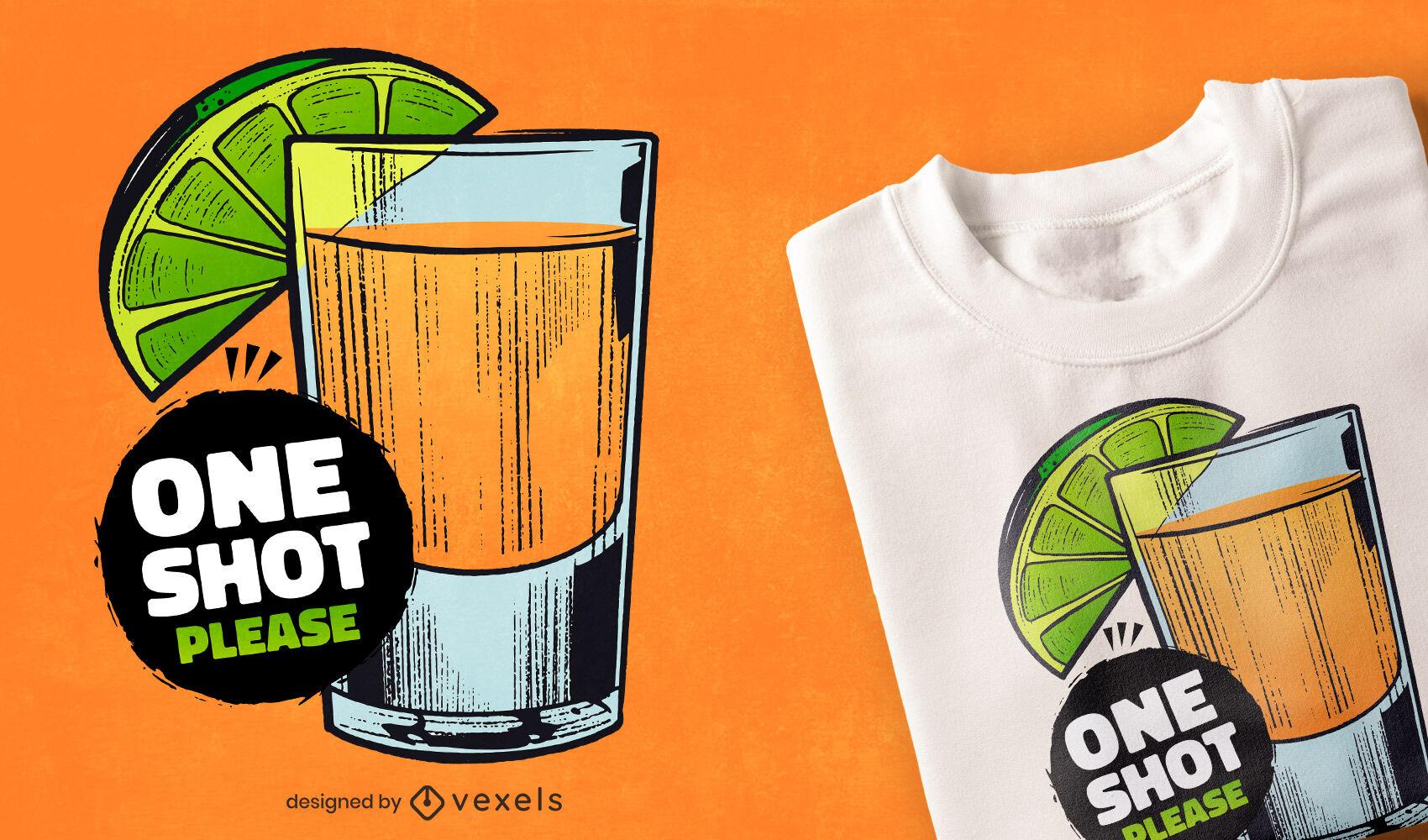 Dise?o de camiseta de bebida de tequila.