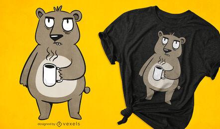 Grumpy bear t-shirt design