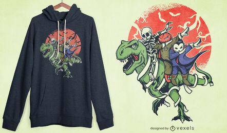Dabbing halloween characters t-shirt design