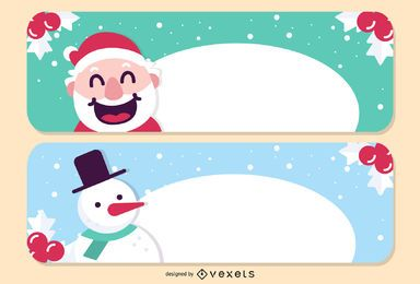 Banners de Natal de vetor 2