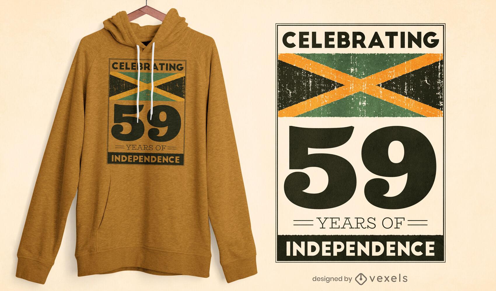 Diseño de camiseta de la independencia de jamaica