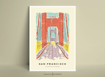 Póster puente golden gate San Francisco