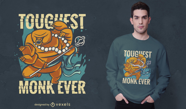 Diseño de camiseta de fantasía de criatura monje.