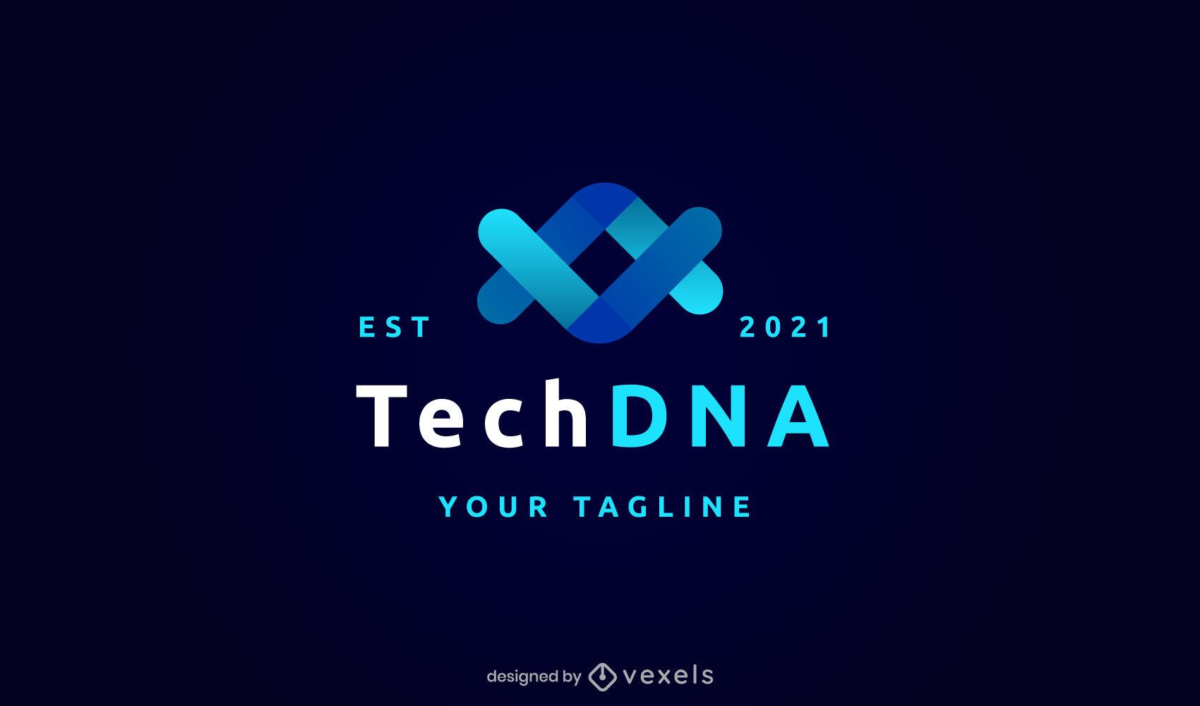 Gradiente de logotipo genético de adn
