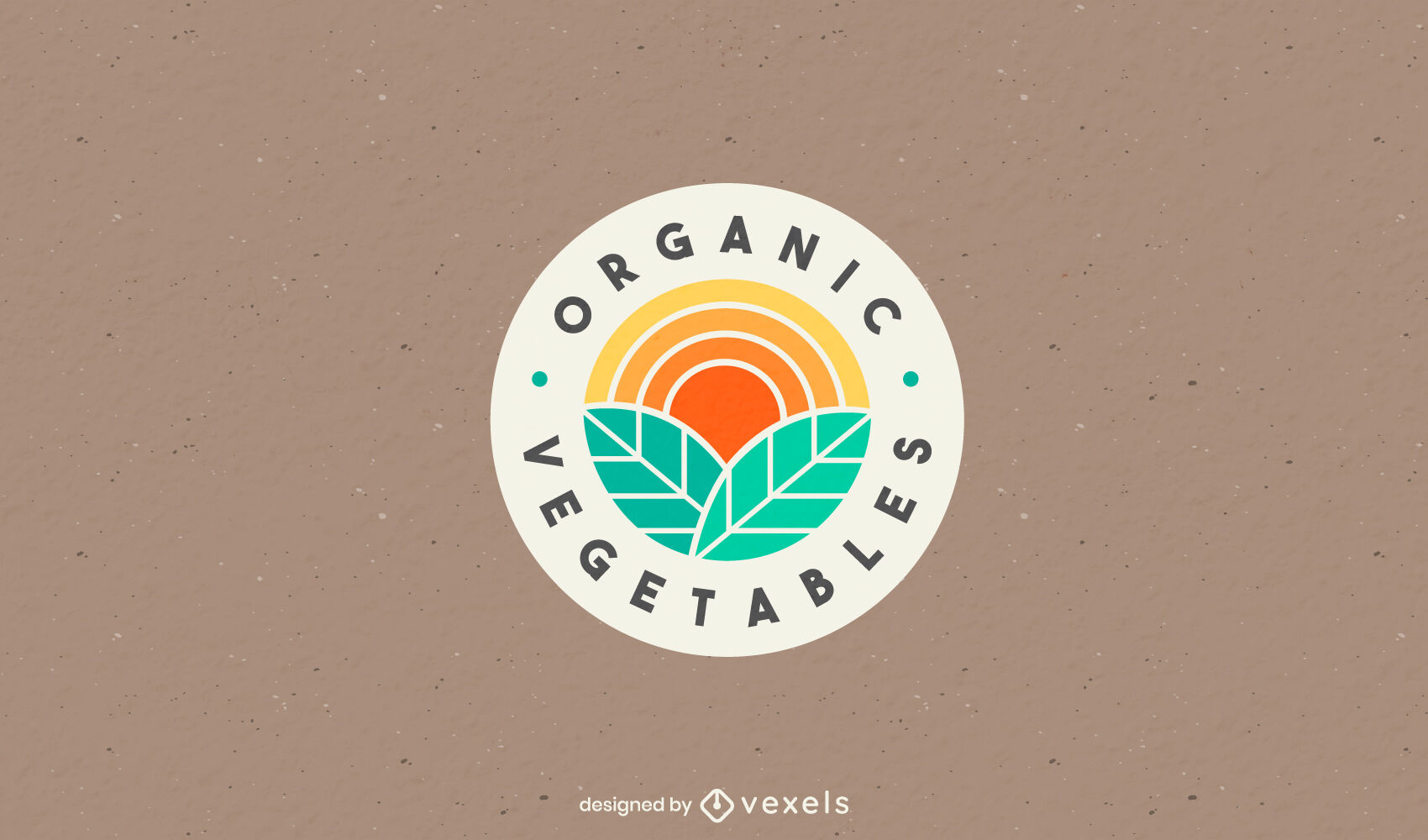 Organic leaves color cut out logo