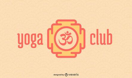 Yoga logo geometric stroke