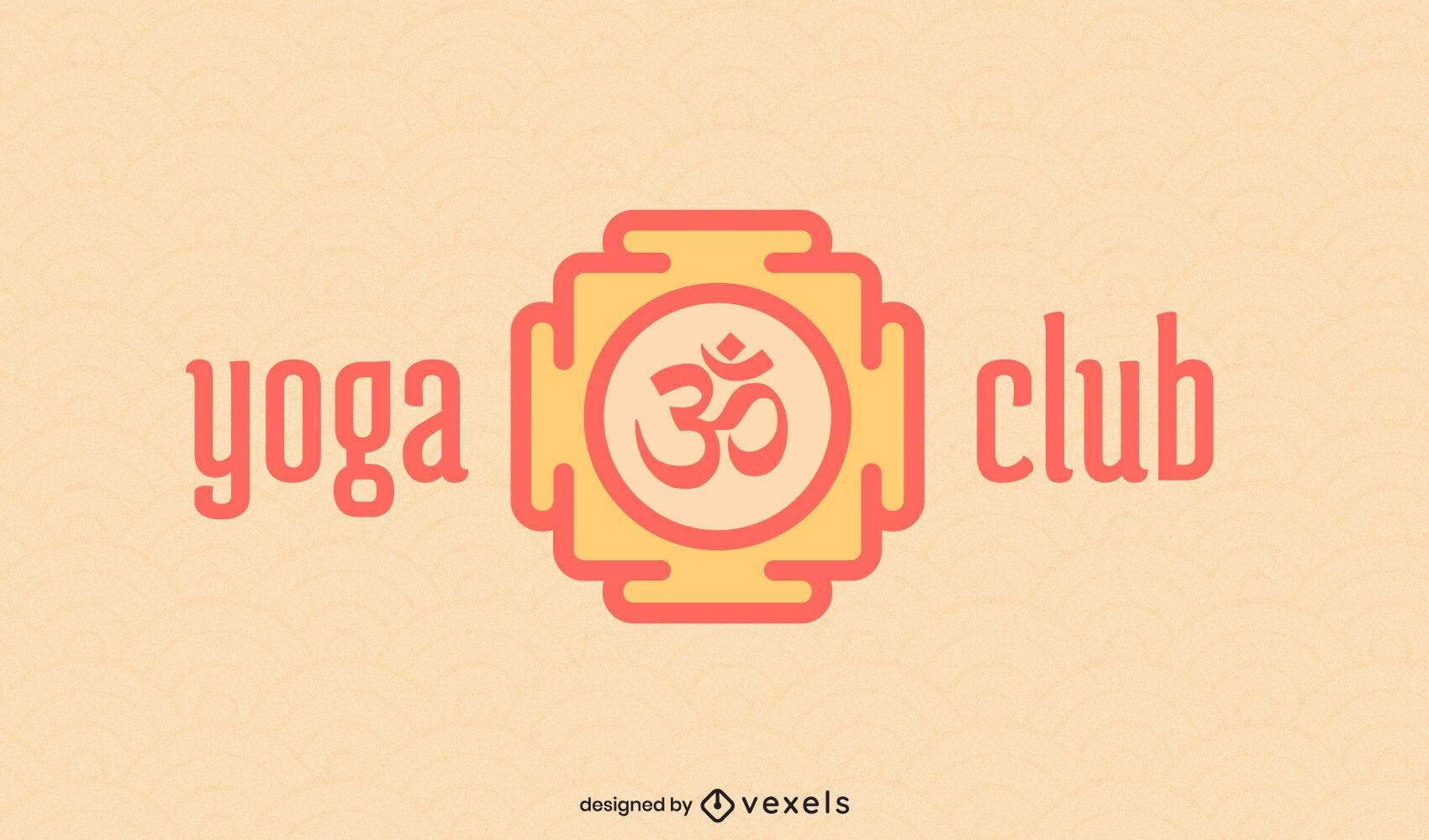 Traço geométrico do logotipo de ioga